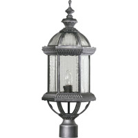 Quorum International Stelton 1 Light Post Lantern in Rustic Silver 7816-72