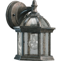 Quorum 7817-25 Weston 1 Light 9 inch Timberland Granite Outdoor Wall Lantern