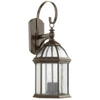 Quorum 7817-3-25 Weston 3 Light 23 inch Timberland Granite Outdoor Wall Lantern