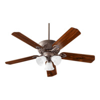 Chateaux Uni-Pack 52 inch Toasted Sienna with Reversible Toasted Sienna and Walnut Blades Ceiling Fan in Faux Alabaster
