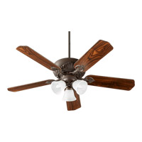 Quorum 78525-1686 Chateaux Uni-Pack 52 inch Oiled Bronze with Reversible Oiled Bronze and Walnut Blades Ceiling Fan in Faux Alabaster