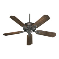 Quorum 78525-44 Chateaux 52 inch Toasted Sienna with Reversible Toasted Sienna and Walnut Blades Ceiling Fan in Light Kit Not Included