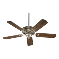Chateaux 52 inch Mystic Silver Ceiling Fan in Light Kit Not Included