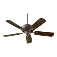 Quorum 78525-86 Chateaux 52 inch Oiled Bronze Ceiling Fan in Light Kit Not Included