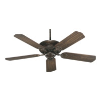 Quorum 78525-88 Chateaux 52 inch Corsican Gold with Dark Oak Blades Ceiling Fan in Light Kit Not Included