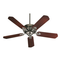 Quorum 78525-92 Chateaux 52 inch Antique Silver with Rosewood Blades Ceiling Fan in Light Kit Not Included