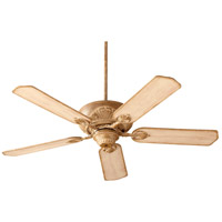 Quorum 78525-94 Chateaux 52 inch French Umber with Distressed Weathered Pine Blades Ceiling Fan in Light Kit Not Included