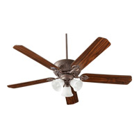 Quorum 78605-1644 Chateaux Uni-pack 60 inch Toasted Sienna with Reversible Toasted Sienna and Walnut Blades Ceiling Fan in Faux Alabaster