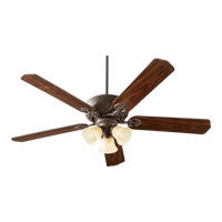 Chateaux Uni-Pack 60 inch Oiled Bronze with Reversible Oiled Bronze and Walnut Blades Ceiling Fan in Amber Scavo