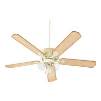 Quorum 78605-1970 Chateaux Uni-Pack 60 inch Persian White with Clear/Seeded with Distressed Weathered Pine Blades Ceiling Fan in Clear Seeded