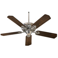 Chateaux 60 inch Satin Nickel with Satin Nickel and Walnut Blades Indoor Ceiling Fan