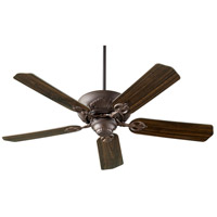 Quorum 78605-86 Chateaux 60 inch Oiled Bronze with Oiled Bronze and Walnut Blades Indoor Ceiling Fan