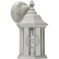 Signature 1 Light 11 inch White Outdoor Wall Lantern