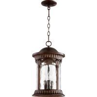 Quorum 7902-3-86 Riviera 3 Light 11 inch Oiled Bronze Outdoor Hanging Lantern