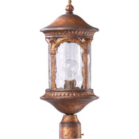 Quorum International Riviera 1 Light Post Lantern in Golden Sunset 7903-1-63
