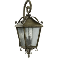 Rochelle 4 Light 36 inch Etruscan Sienna Outdoor Wall Lantern