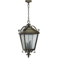 Rochelle 4 Light 14 inch Etruscan Sienna Outdoor Hanging Lantern
