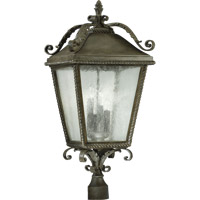 Quorum 7912-4-43 Rochelle 4 Light 29 inch Etruscan Sienna Post Lantern