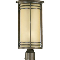 Larson 1 Light 19 inch Oiled Bronze Post Lantern