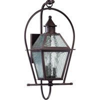 Quorum 7919-3-86 Bourbon Street 3 Light 26 inch Oiled Bronze Outdoor Wall Lantern
