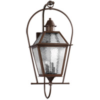 Quorum International Bourbon Street 4 Light Outdoor Wall Lantern in Oiled Bronze 7919-4-86