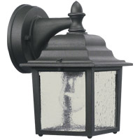 Signature 1 Light 9 inch Black Outdoor Wall Lantern