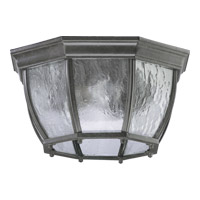 Quorum International Signature 2 Light Outdoor Ceiling Light in Timberland Granite 7931-2-25
