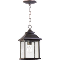 Quorum 7941-7-86 Pearson 1 Light 7 inch Oiled Bronze Outdoor Pendant