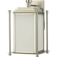 Quorum International Shoreham 3 Light Outdoor Wall Lantern in Satin Nickel 7950-3-65