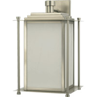 Quorum International Signature 4 Light Outdoor Wall Lantern in Satin Nickel 7950-4-65