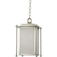 Quorum International Shoreham 4 Light Outdoor Hanging Lantern in Satin Nickel 7951-4-65
