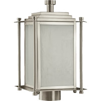 Quorum International Shoreham 3 Light Post Lantern in Satin Nickel 7952-3-65