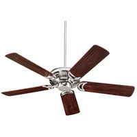 Venture 52 inch Polished Nickel with Dark Teak Blades Indoor Ceiling Fan