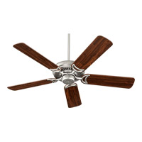Quorum 79525-65 Venture 52 inch Satin Nickel with Reversible Satin Nickel and Walnut Blades Ceiling Fan