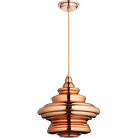 Quorum 8003-4949 Signature 1 Light 14 inch Satin Copper Pendant Ceiling Light