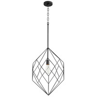 Signature 1 Light 16 inch Noir Pendant Ceiling Light