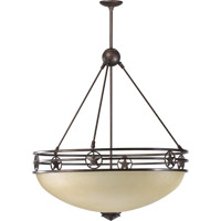 Quorum International Lone Star 5 Light Pendant in Toasted Sienna 8028-5-44