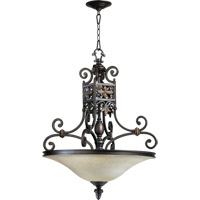 Quorum 8031-4-86 Marcela 4 Light 25 inch Oiled Bronze Pendant Ceiling Light