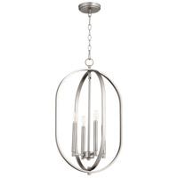 Quorum 8044-4-65 Collins 4 Light 16 inch Satin Nickel Entry Pendant Ceiling Light