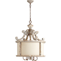 Quorum 8052-4-56 La Maison 4 Light 25 inch Manchester Grey with Rust Accents Pendant Ceiling Light