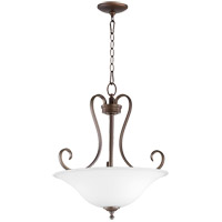Quorum 8053-3-186 Celesta 19 inch Oiled Bronze Pendant Ceiling Light, Satin Opal