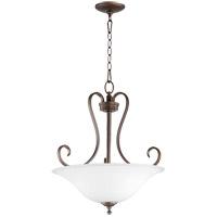 Quorum 8053-3-186 Celesta 19 inch Oiled Bronze Pendant Ceiling Light Satin Opal