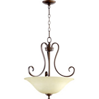 Quorum 8053-3-86 Celesta 3 Light 19 inch Oiled Bronze Pendant Ceiling Light
