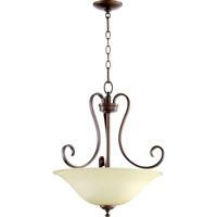 Quorum 8053-3-86 Celesta 3 Light 19 inch Oiled Bronze Pendant Ceiling Light