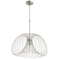 Quorum 806-24-63 Fort Worth 1 Light 24 inch Brushed Silver Pendant Ceiling Light