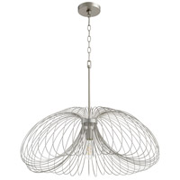 Quorum 806-30-63 Fort Worth 1 Light 24 inch Brushed Silver Pendant Ceiling Light