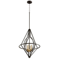 Quorum 8065-4-69 Signature 4 Light 18 inch Noir Pendant Ceiling Light