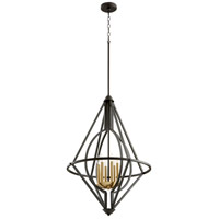 Quorum 8065-6-69 Signature 6 Light 24 inch Noir Pendant Ceiling Light