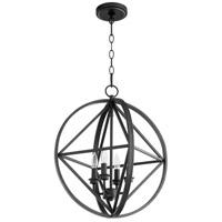 Quorum 807-4-69 Signature 4 Light 18 inch Noir Pendant Ceiling Light