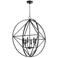 Quorum 807-6-69 Signature 6 Light 28 inch Noir Pendant Ceiling Light